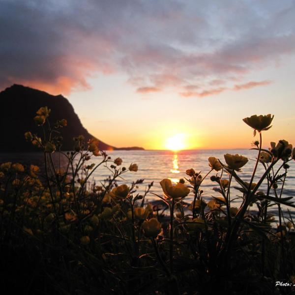 Coucher de soleil à Grundafjordur, Ouest